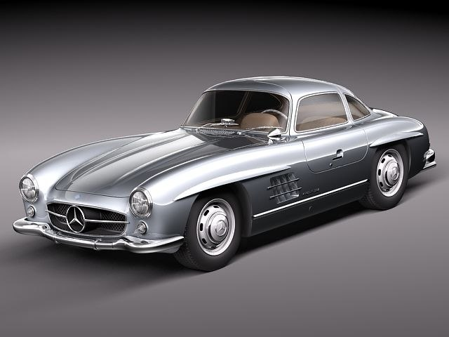 mercedes benz 300 sl 3d model