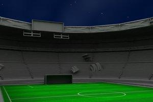 soccer stadium 3d model