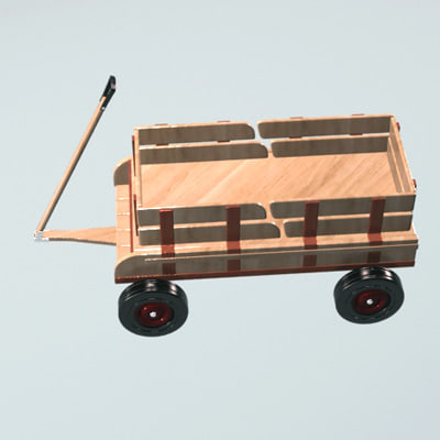 3d wagon toy
