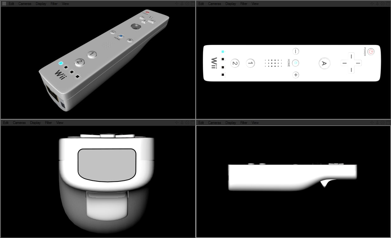 3d 3ds wii mote