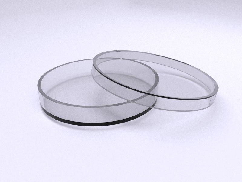 3d model plastic petri dish