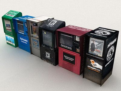 street newspaper - 3d model