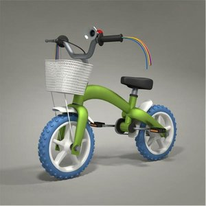 child bike 3d model