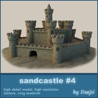 sandcastle sand castle 3d max
