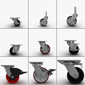 caster wheel 3d model