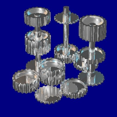 20 tooth gear set 3d dxf