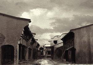 old street scene 3d model