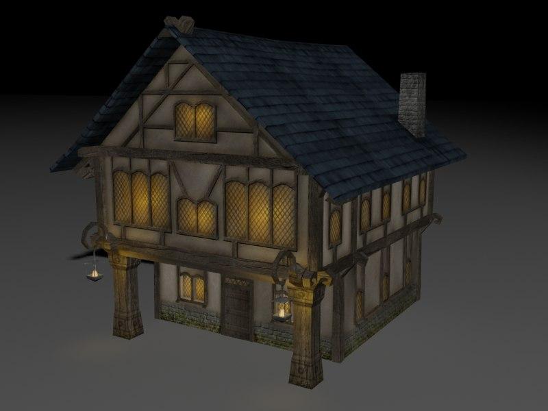 3d house pub model