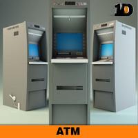 atm exchange payment 3d model