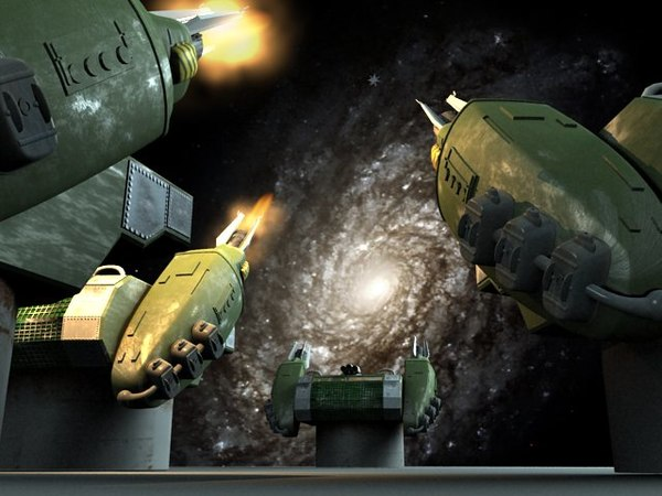 battle star galactica cannons 3d max
