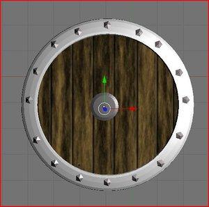 3d shield rpg decoration model