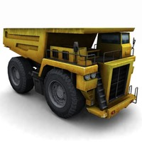 3d heavy quarry truck