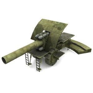 bertha howitzer 3d max