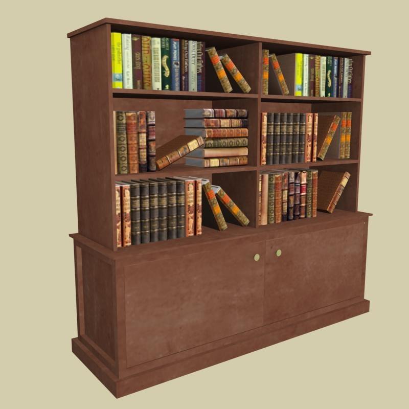 bookcase architectural 3d model