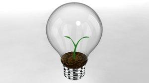 3ds plant growing lightbulb lighting
