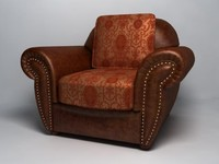 leather armchair classic style 3d model
