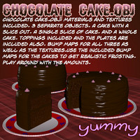 Chocalate Cake.obj