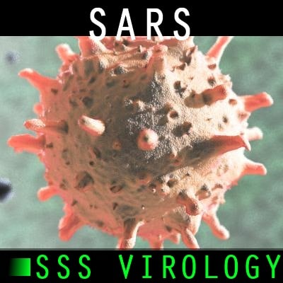 sars virus 3d model