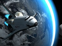 endeavour space shuttle 3d model