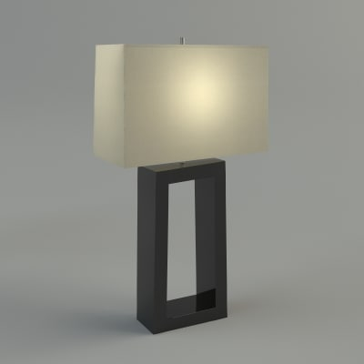 max table lamp - materials