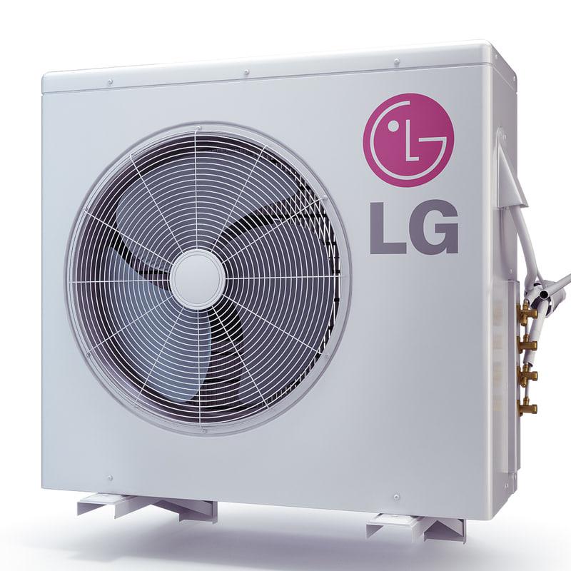 3d model air conditioner lg lmu365hv