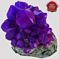 3d mineral amethyst model