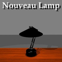 nouveau table lamp 3d model
