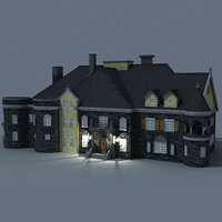 castle mansion housing 3d model