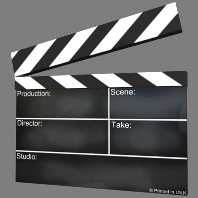 clapperboard scenes 3d model