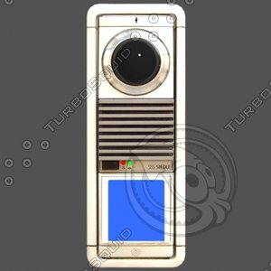 3dsmax intercom security camera