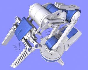 robotic arm 3d max