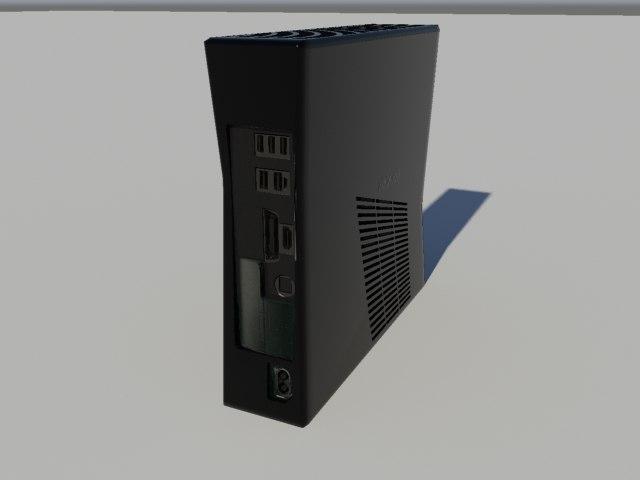 3d model xbox 360 slim