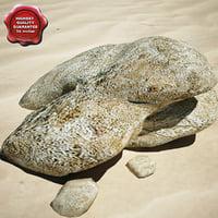 3d model stones v8