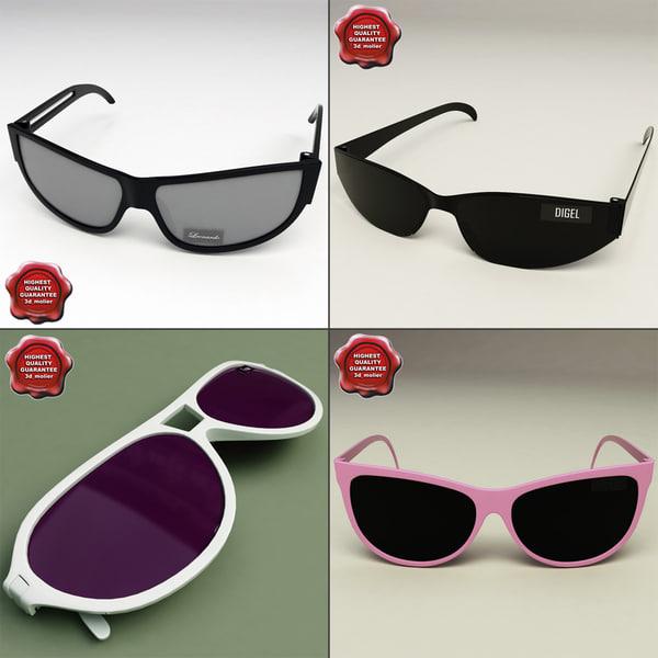 sunglasses glass 3d model