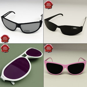sunglasses glass 3d model