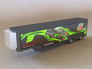 3d model tractor hauler mountain dew