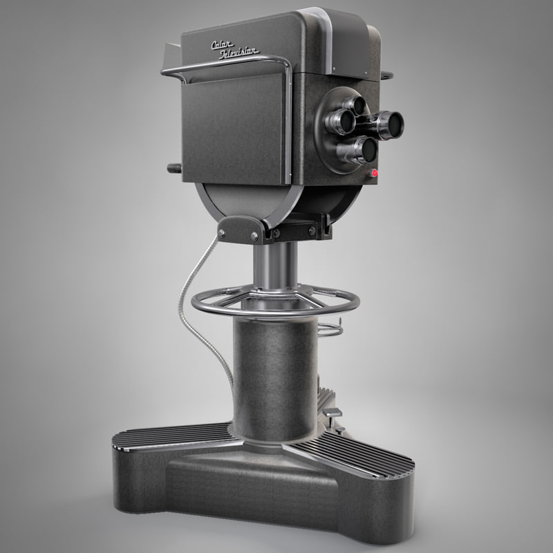3d model vintage television camera