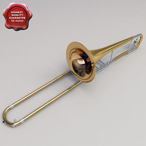 trombone details modelled 3d max