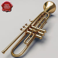 trumpet details modelled 3d model