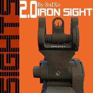 iron sights 3d model