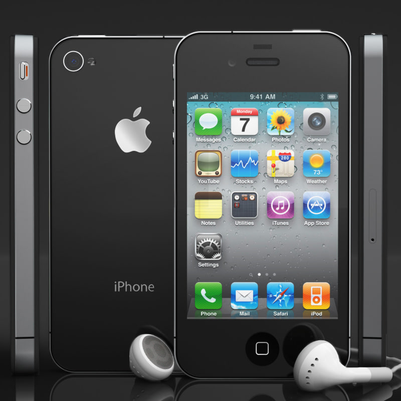apple iphone 4 phone 3d model