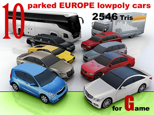 europe cars 10 3ds