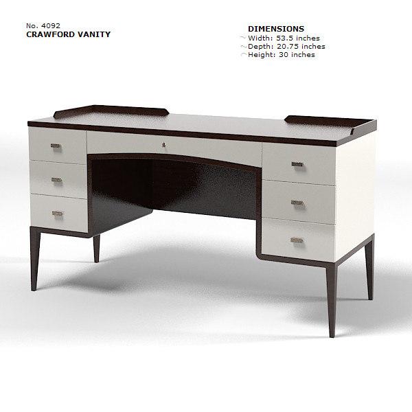 baker bill sofield srawford vanity lady s desk table 4092 modern  contemporary. bill sofield 3d model