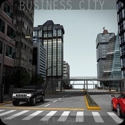 business city buildings 3d obj