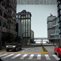 business city buildings 3d obj