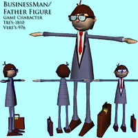 3d business man dad model