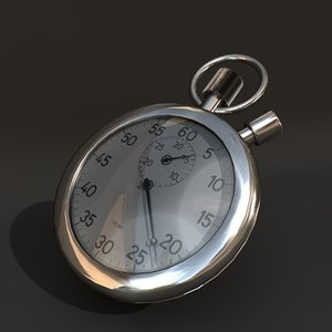 stopwatches chronograph 3d model
