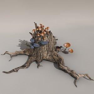 tree stool obj