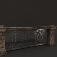 3d balustrade model