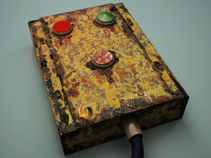 old control panel 3d model
